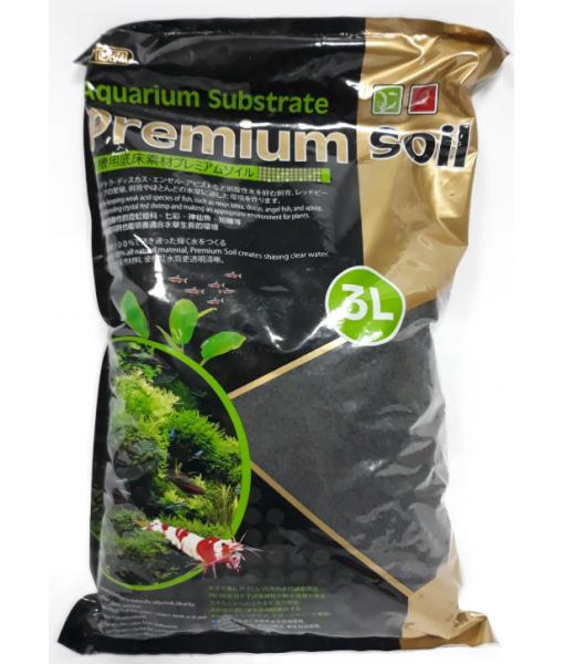 Субстрат для аквариумных растений и креветок премиум класса 3л,  гранулы 1,5-3,5мм